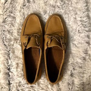 Sperry Top Sider Mens 16 Brown Leather Loafers Boa
